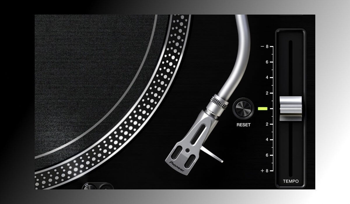 Pitch fader on the Pioneer DJ PLX-1000