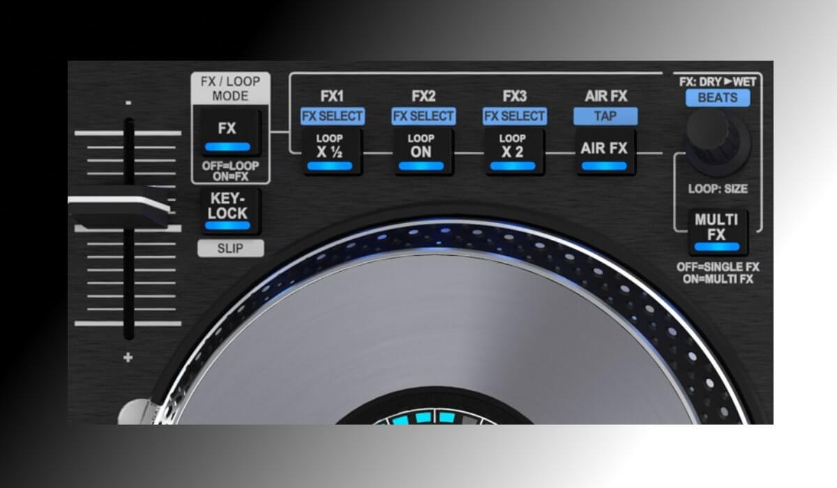 Hercules DJControl Jogvision effects, pitch fader and looping