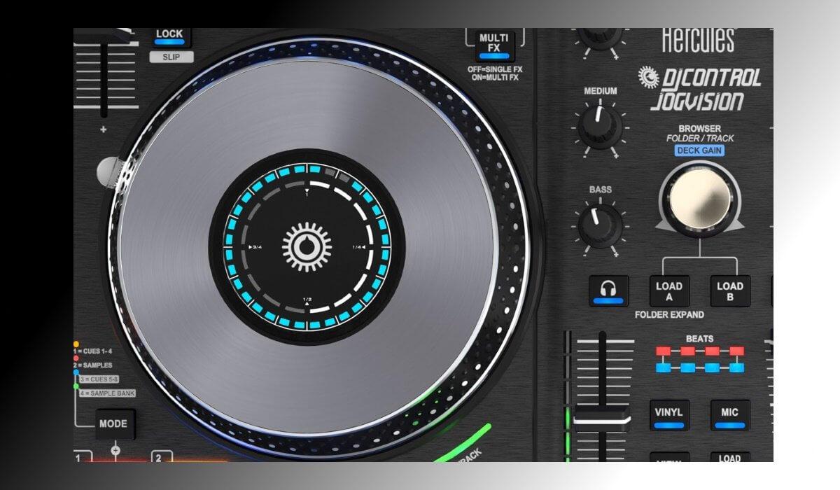 Hercules DJControl Jogvision jog wheels