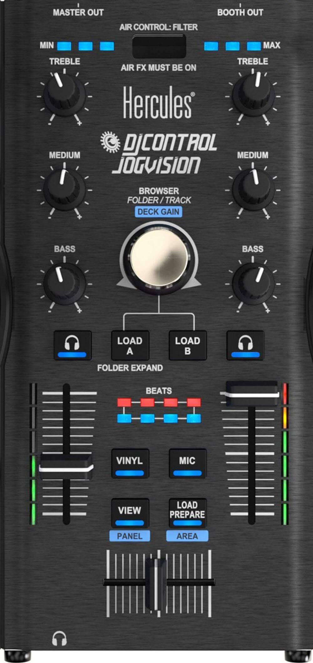 Hercules DJControl Jogvision mixer section
