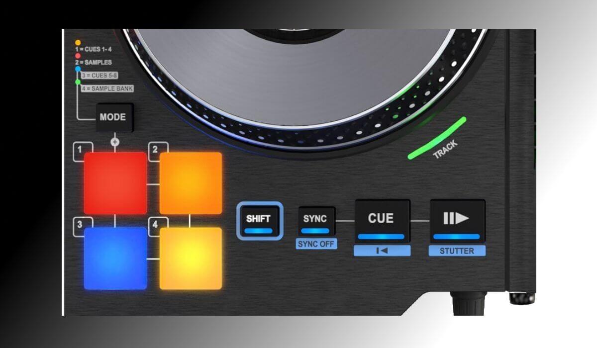 Hercules DJControl Jogvision transport controls