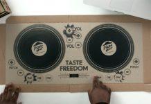 Pizza Hut Pizza DJ Box