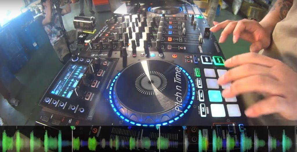 DJ Smile on the Denon DJ MCX8000
