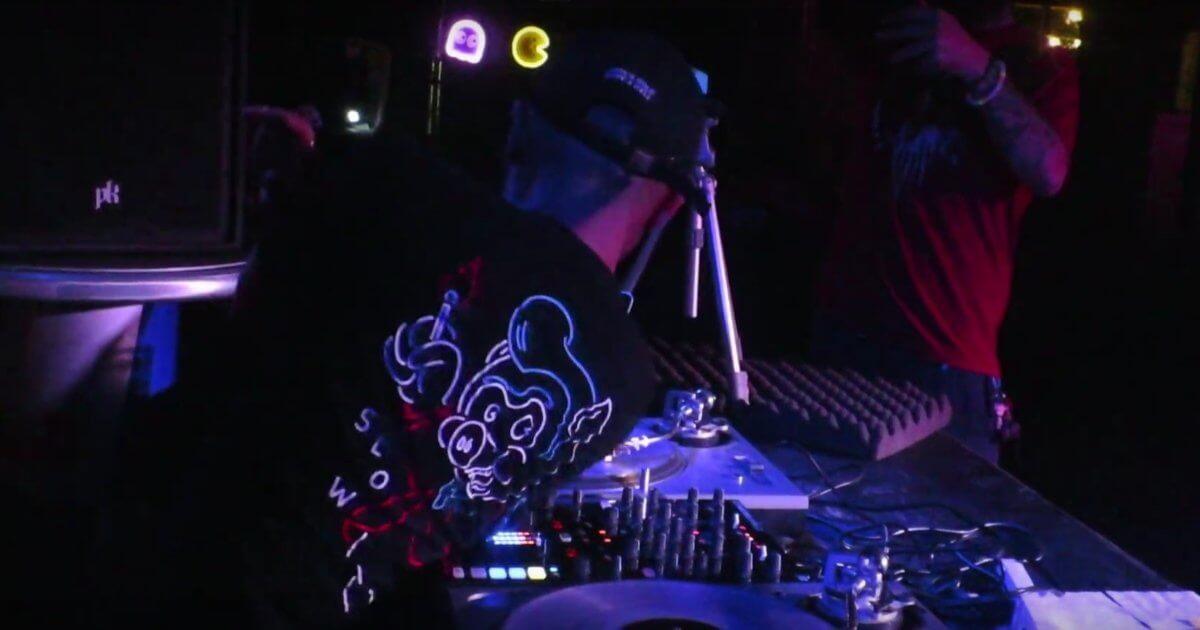 Dj Craze performing tricks