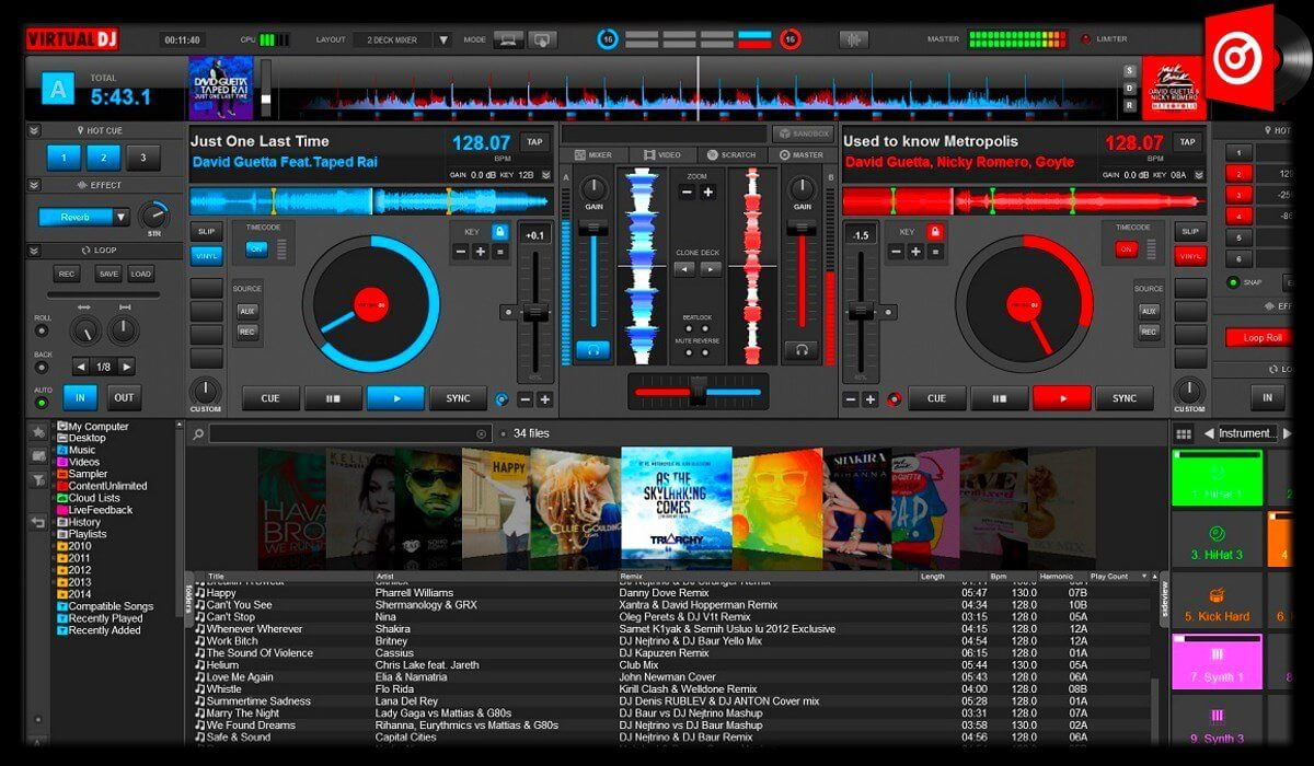 Virtual DJ 8 overall interface overview