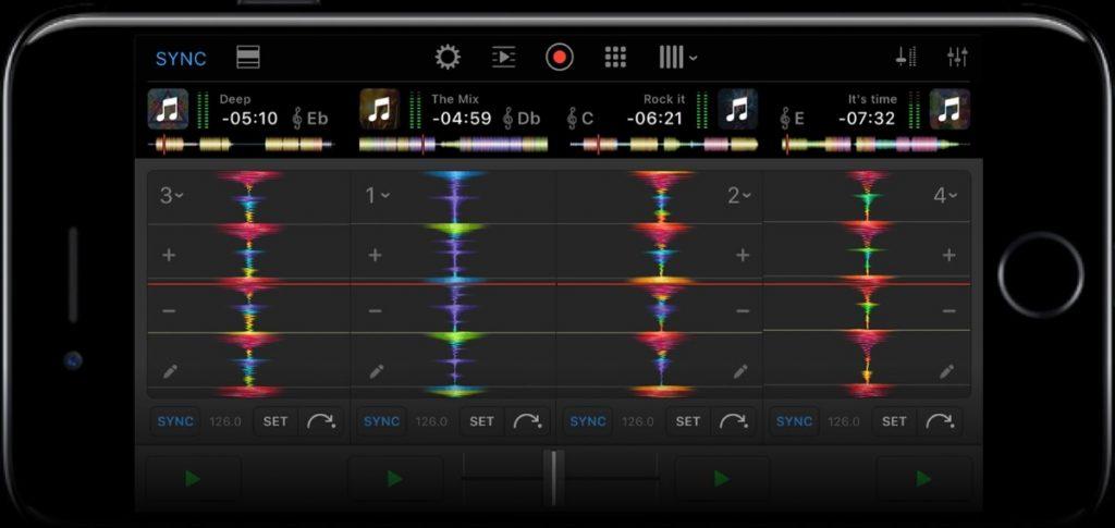 Djay Pro For iPhone 4 decks