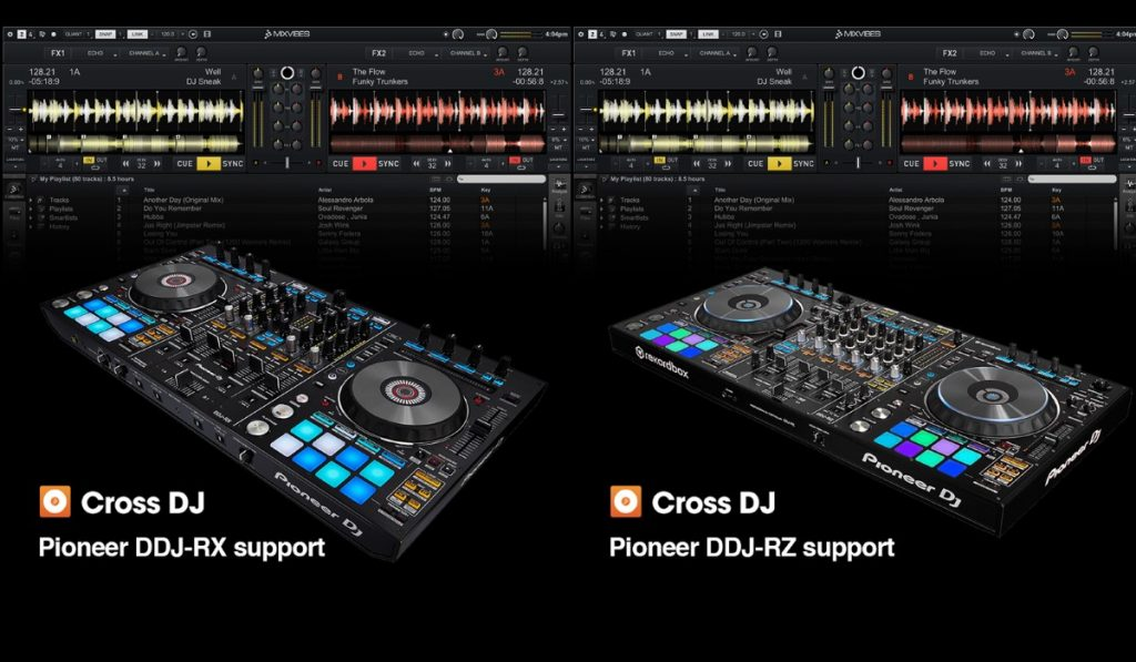 Mixvibes supports the DDJ-RX and DDJ-RZ