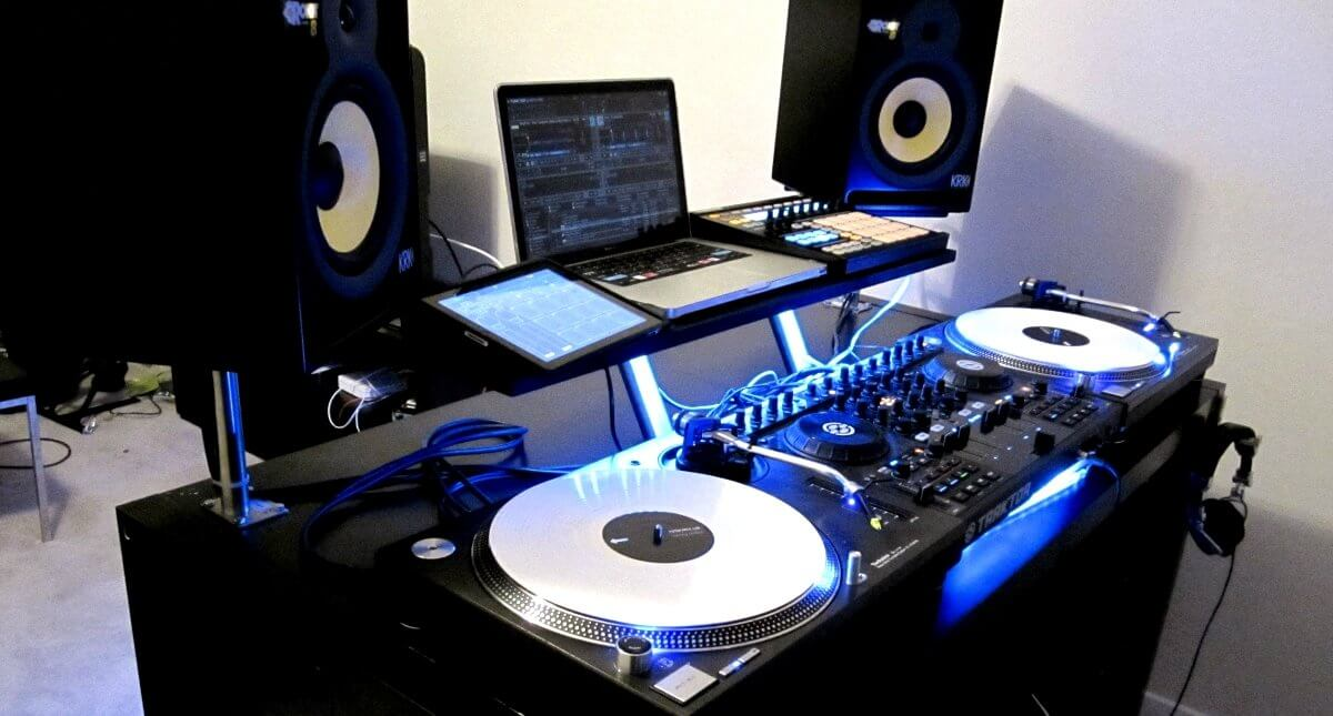 Expensive DJ home setup