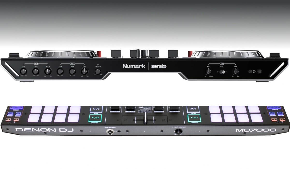 Numark NS6II versus Denon DJ MC7000: the front