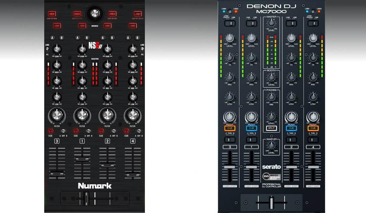 Numark NS6II versus Denon DJ MC7000: the mixer