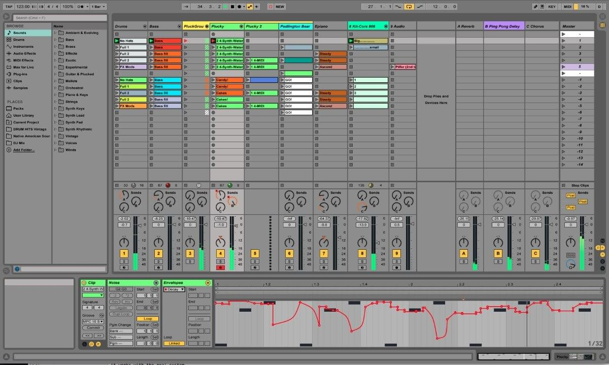 Ableton Live example screen