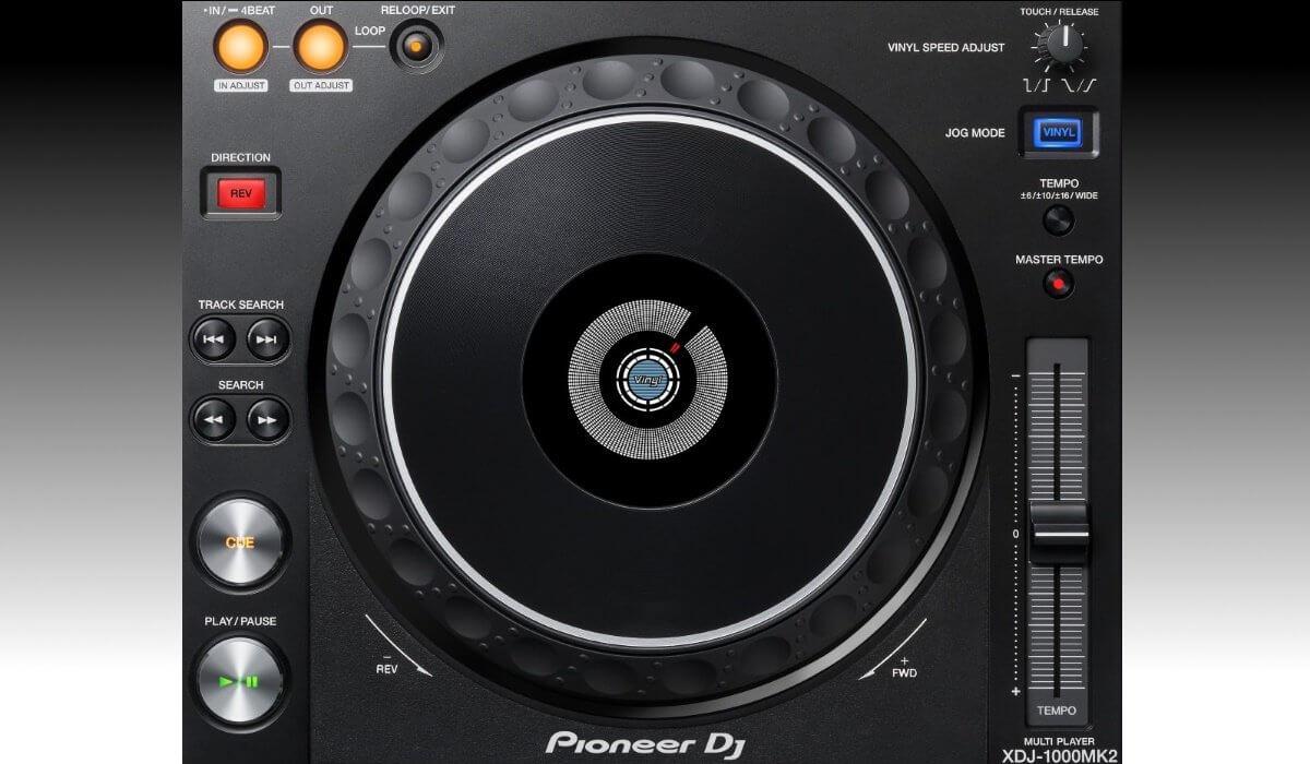 Pioneer DJ XDJ-1000mk2 jog wheel