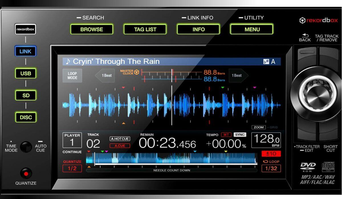 CDJ-2000NXS2 screen detailed