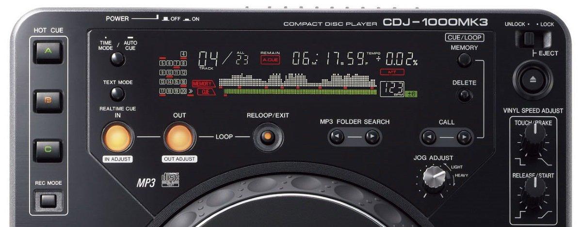 Pioneer CDJ-1000MK3 screen detail