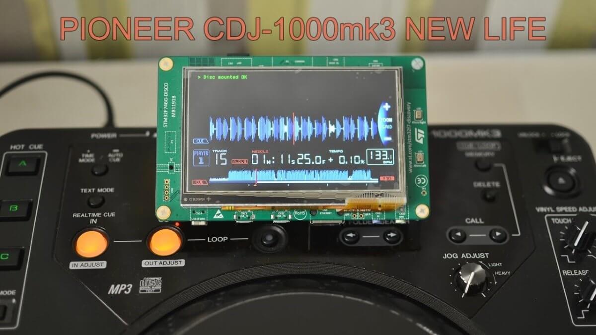 Pioneer DJ CDJ-1000MK3 screen mod