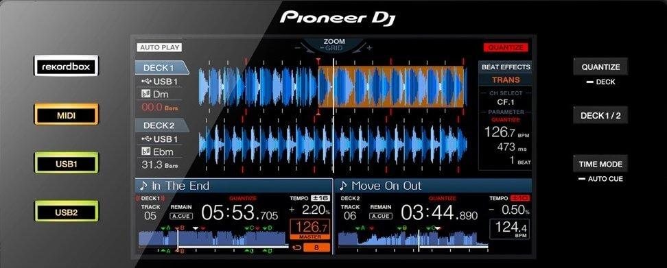 Pioneer DJ XDJ-RX screen detail
