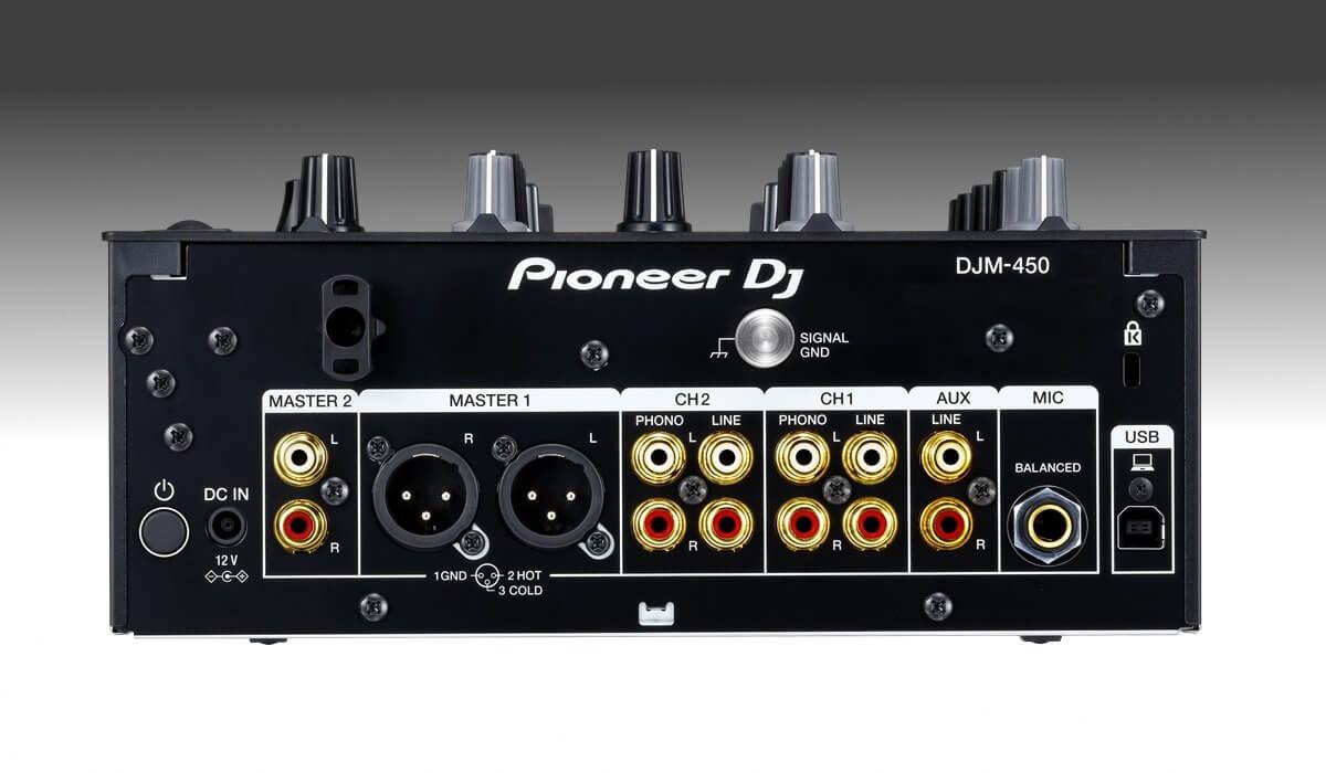 Pioneer DJ DJM-450 inputs & outputs