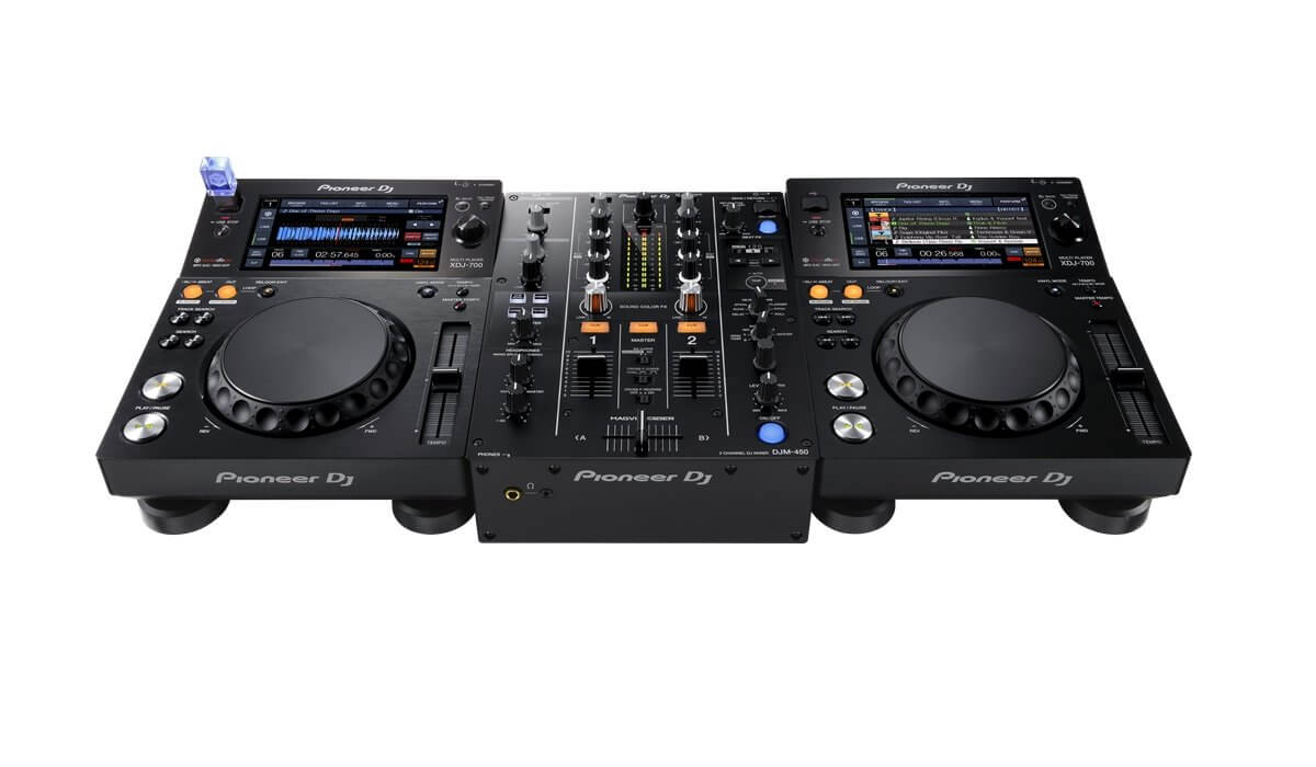 pioneer dj djm 450 mixer review and video. Black Bedroom Furniture Sets. Home Design Ideas