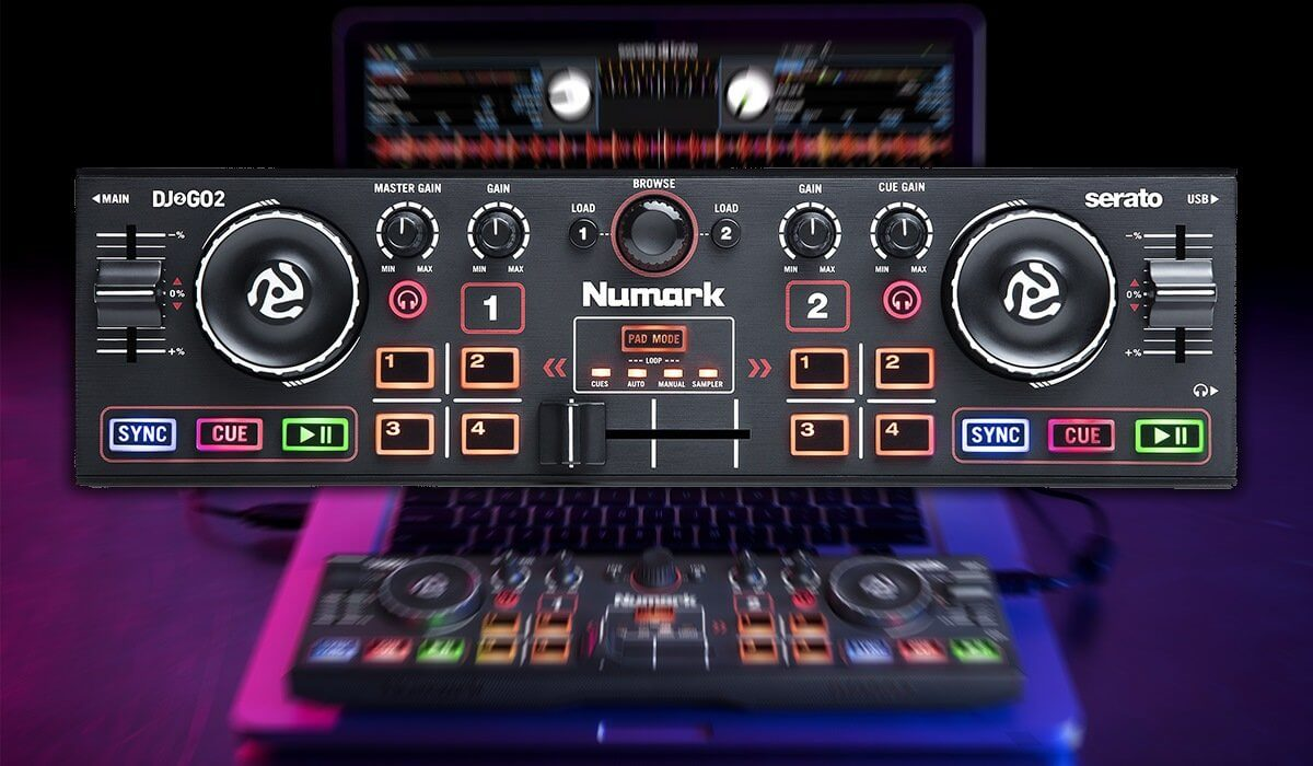 The Numark DJ2GO2 fits on your computer!