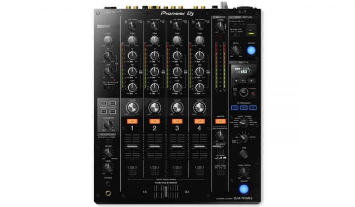 Pioneer DJ DJM-750MK2 top view.
