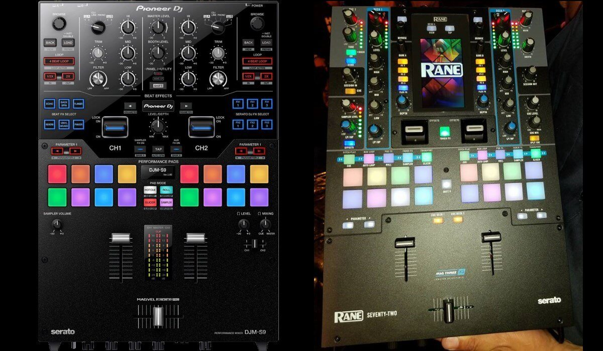 Rane Seventy Two compared to the Pioneer DJ DJM-S9
