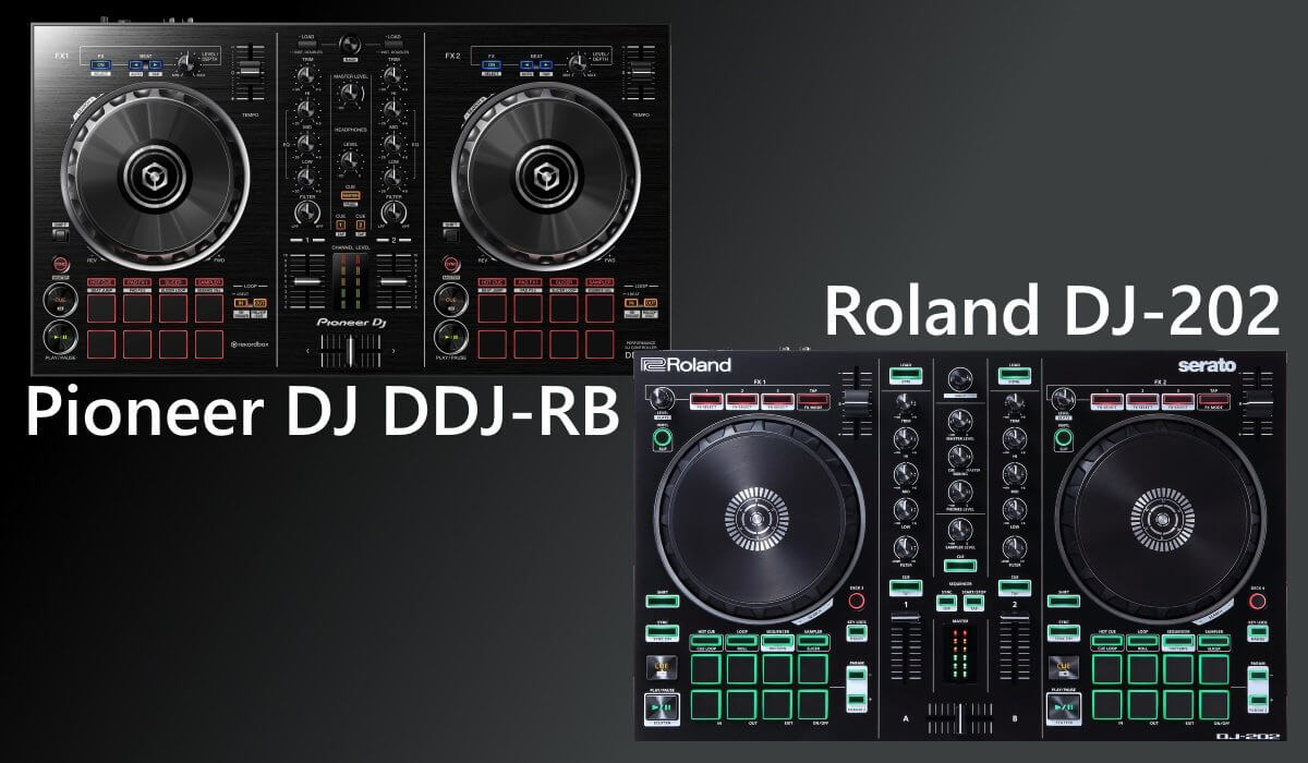 Roland DJ-202 compared to the Pioneer DJ DDJ-RB