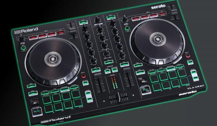 Roland DJ-202 side view.