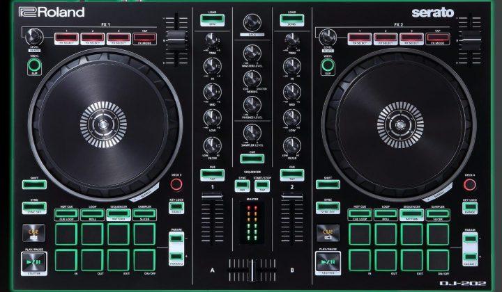 Roland DJ-202 front view.