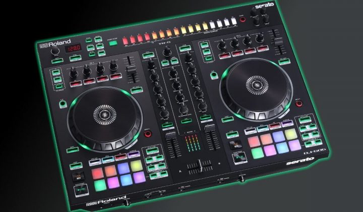 Roland DJ-505 side view.