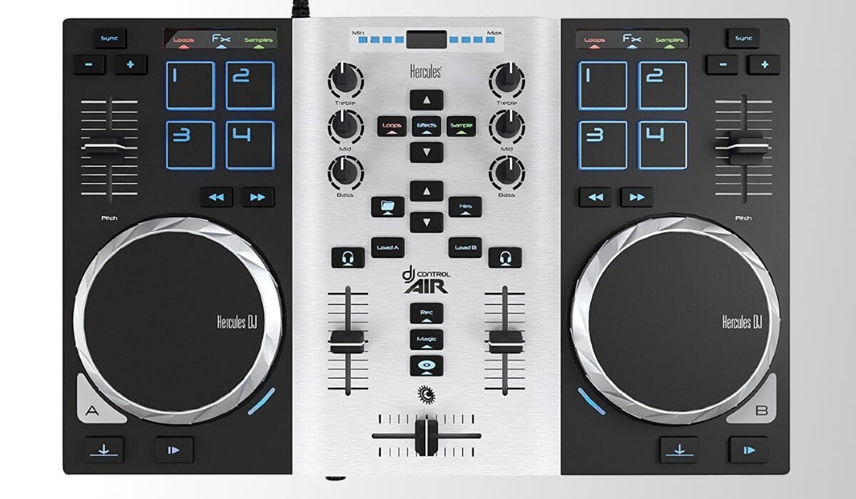 hercules djcontrol air s djtechzone is your daily dose of dj gear news and reviews. Black Bedroom Furniture Sets. Home Design Ideas