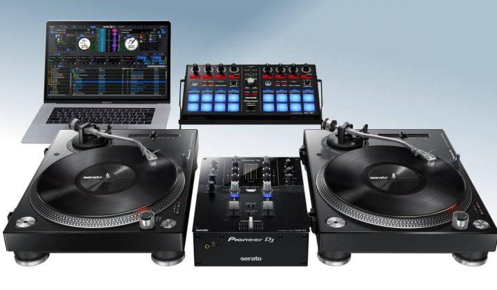 Pioneer DJ DJM-S3 with DDJ-SP1 and PLX-500