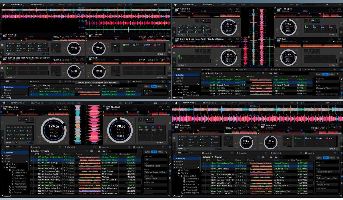 Rekordbox DJ deck options