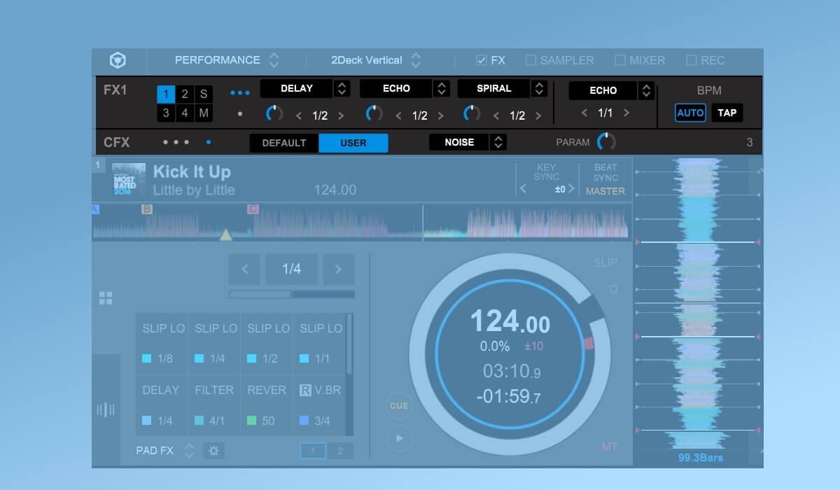 Rekordbox DJ effects section