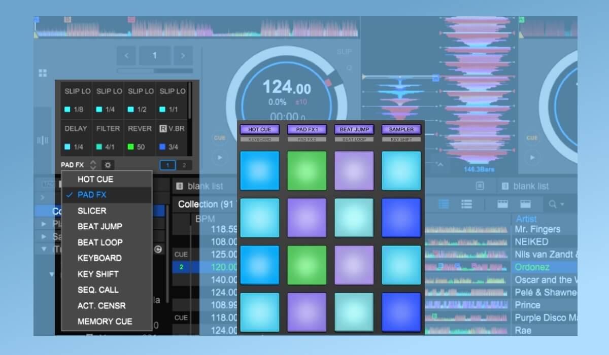 Rekordbox DJ performance pads