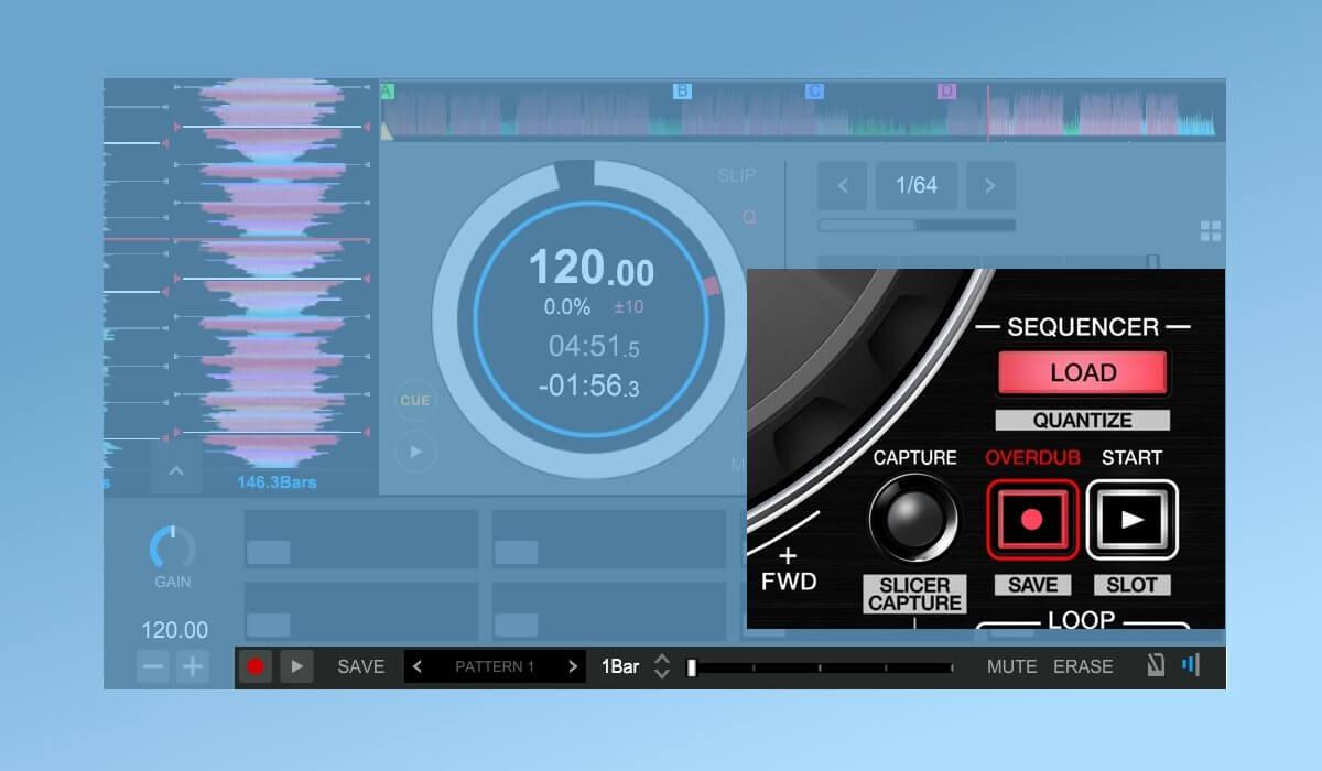 Rekordbox DJ sequencer section