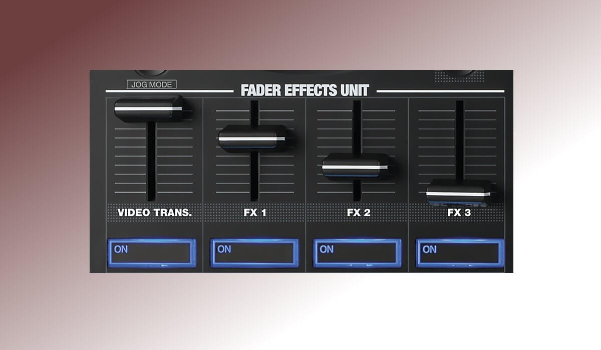 Reloop TOUCH channel fader details