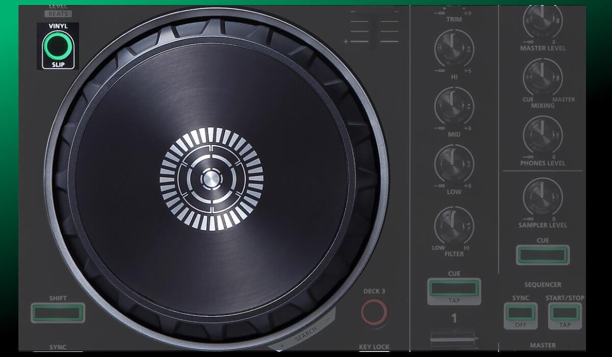 Roland DJ-202 jog wheels