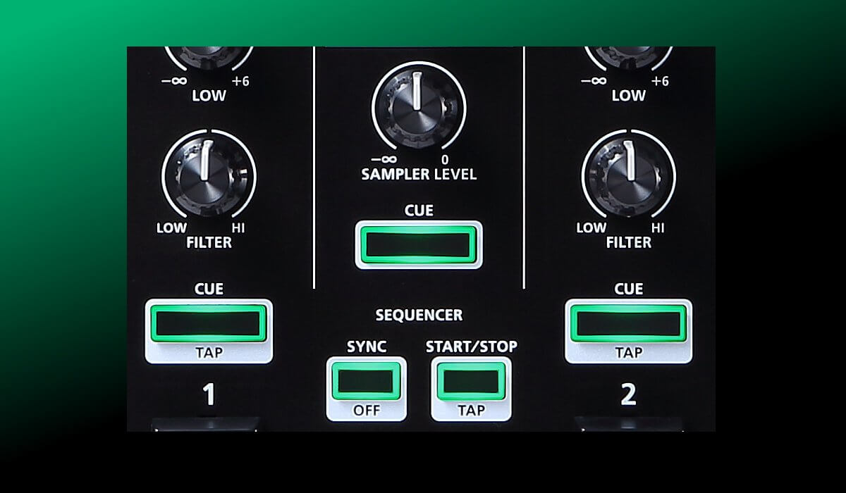 Roland DJ-202 sampler & sequencer buttons