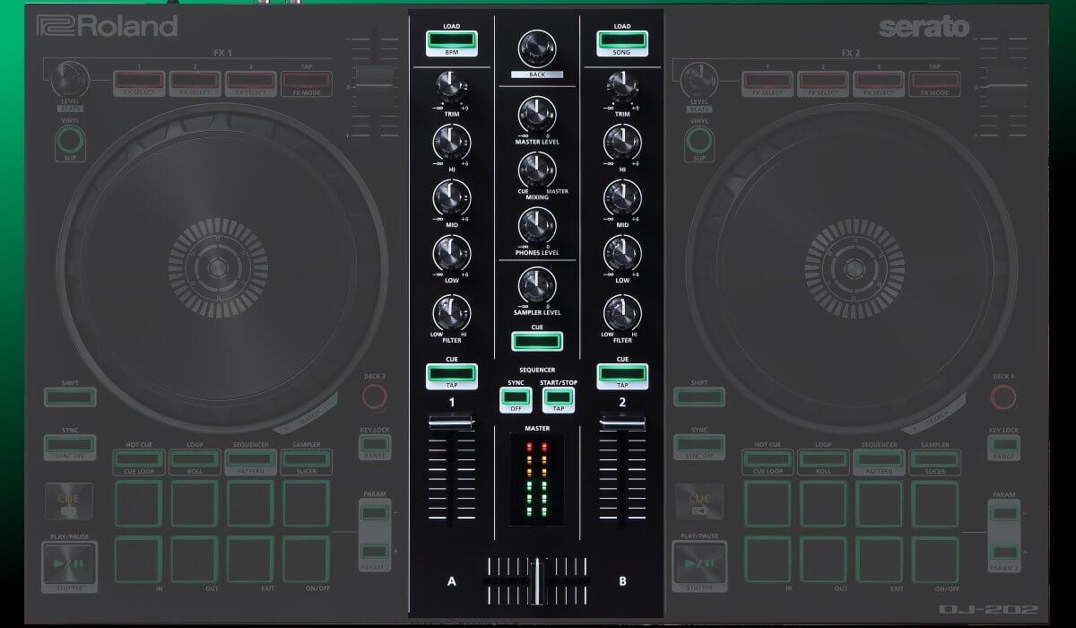 Roland DJ-202 mixer section