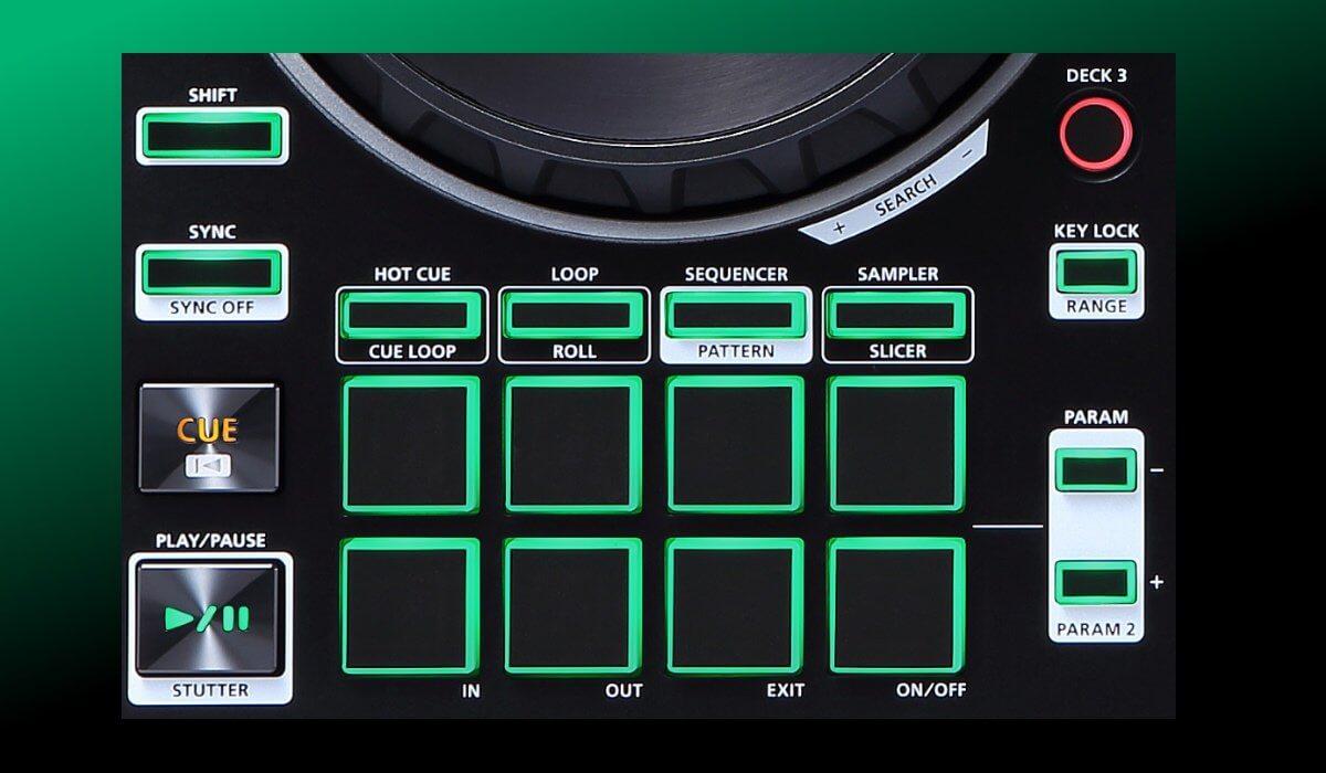 Roland DJ-202 performance pads
