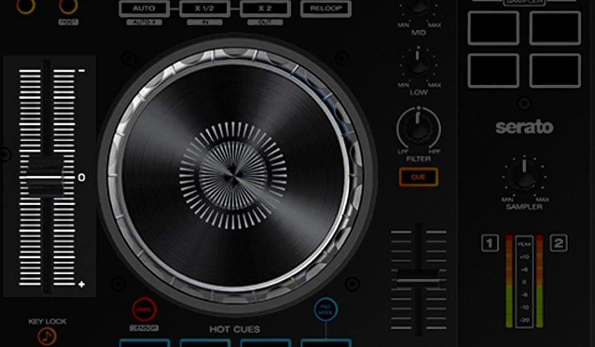 Denon DJ MC4000 jog wheel and pitch fader