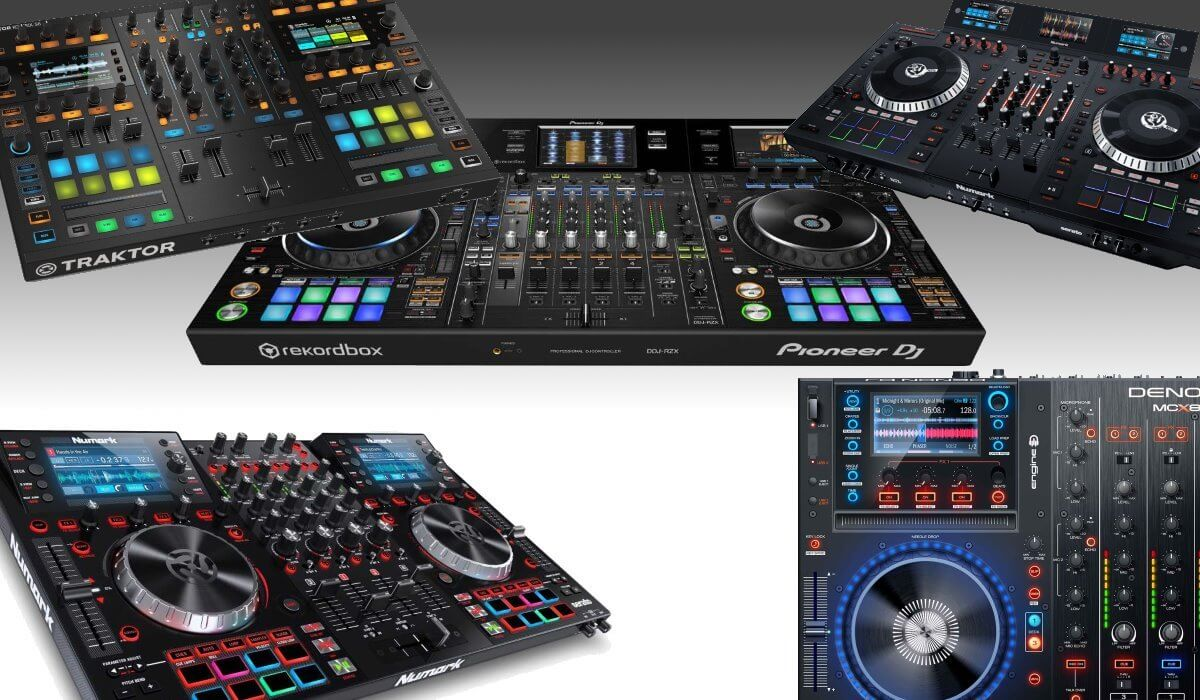DJ controllers with build in screens