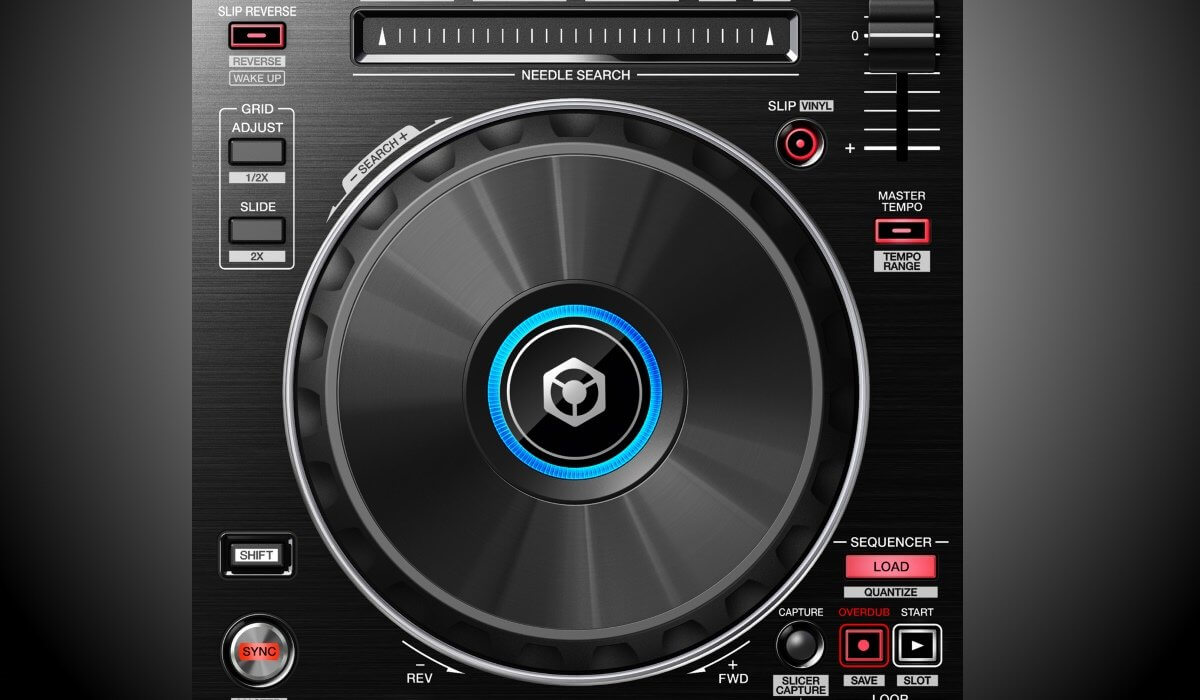 Pioneer DDJ-RR jog wheels & needle search