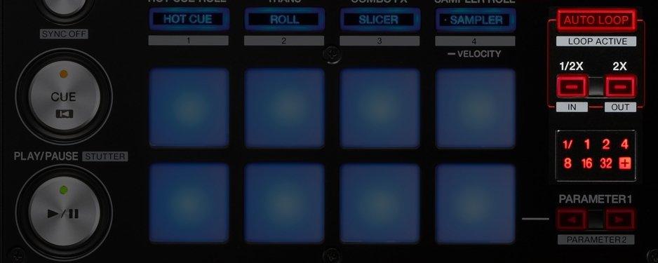Pioneer DJ DDJ-SR loop section
