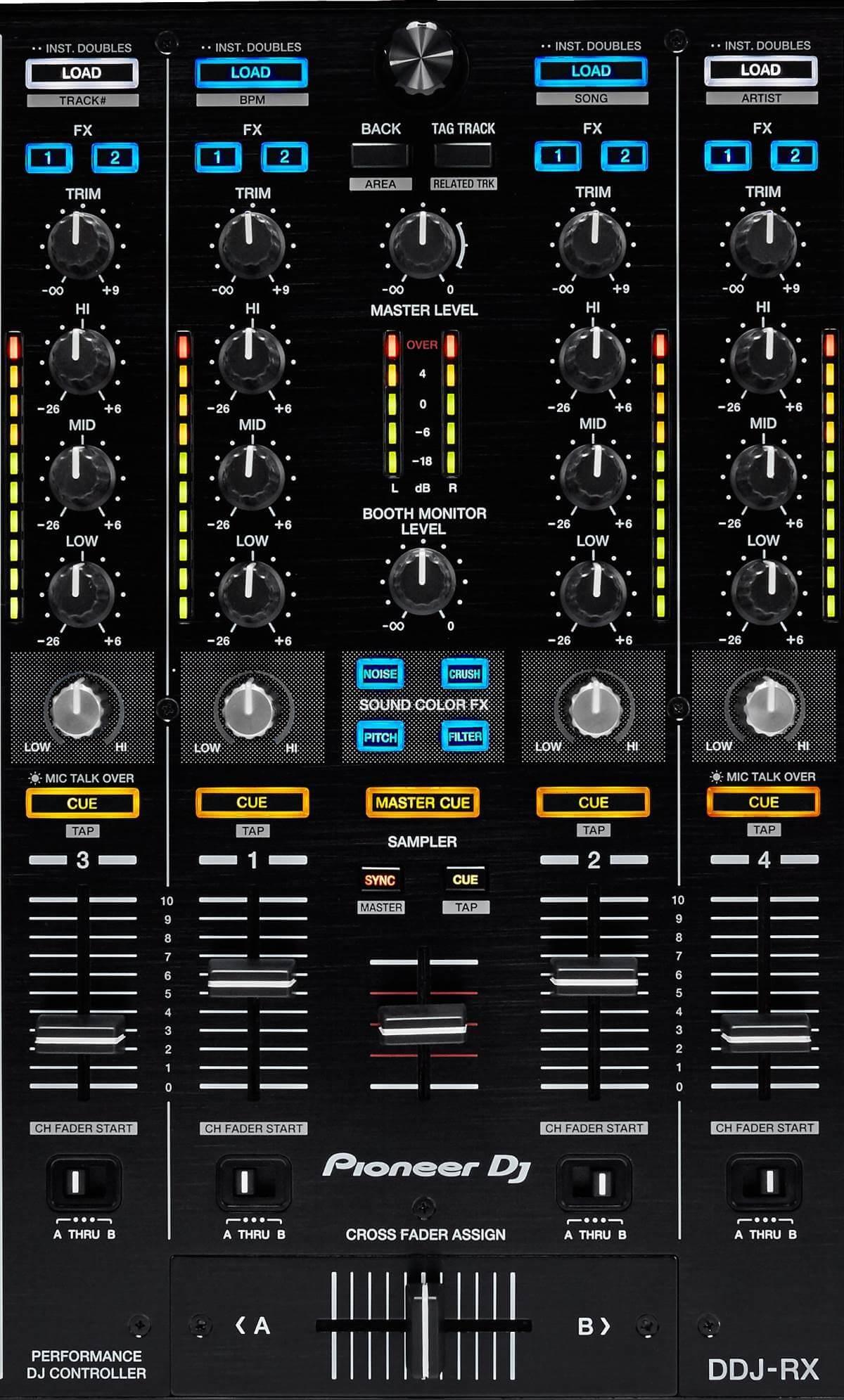 Pioneer DJ DDJ-RX mixer section