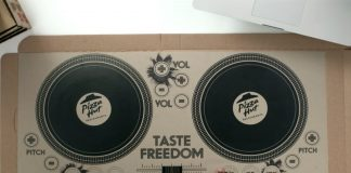 Pizza Hut Pizza DJ Box