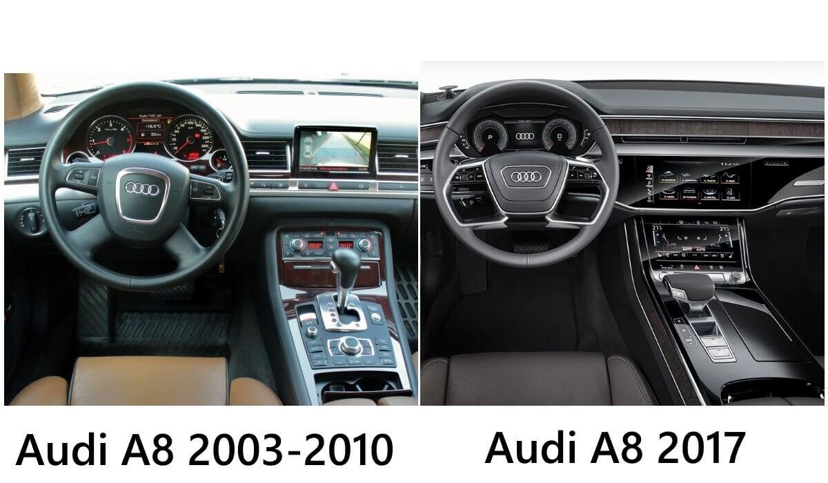 Audi A8 generations compared: less buttons, more touchscreens!
