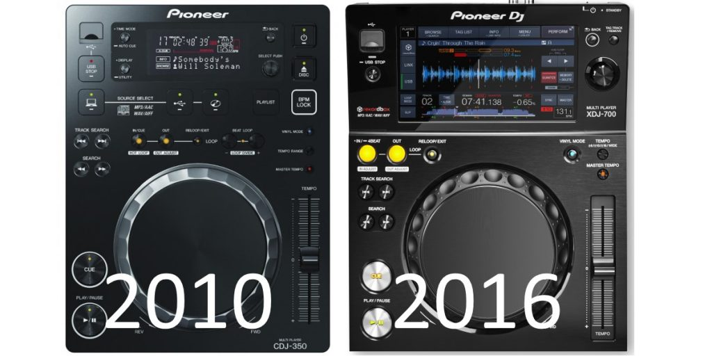 Pioneer DJ CDJ-350 versus XDJ-700