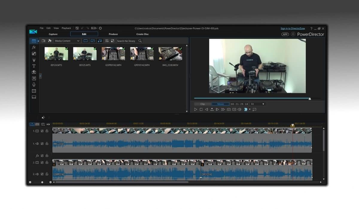 Editing a video in Cyberlink Powerdirector