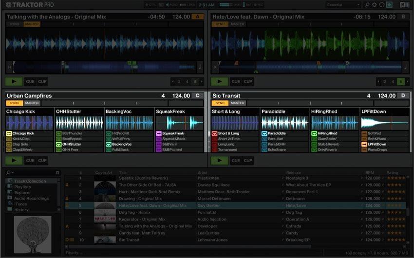 Traktor Pro remix decks